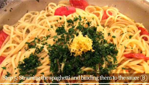 """Spaghetti with Cherry Tomatoes and Lemon spicy sauce"" Vegan recipe"
