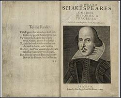 Shakespeare - First Folio Image