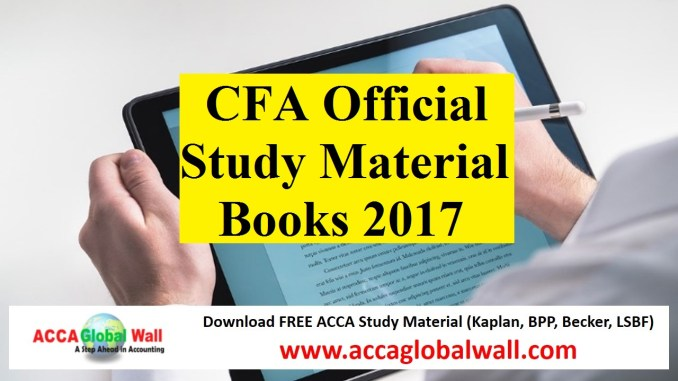 CFA Official Study Material Books 2017