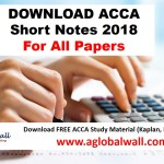 ACCA Short Notes 2018 For all Papers