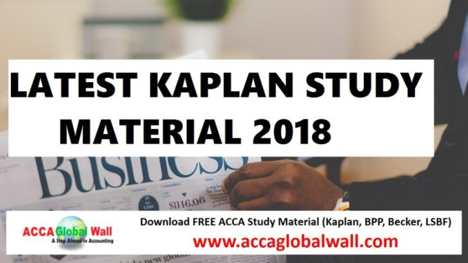Latest acca kaplan study material 2018 2019 a global wall latest kaplan study 2018 fandeluxe Gallery