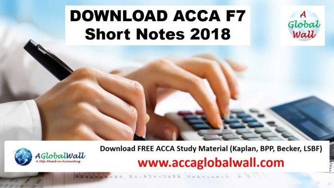 acca f7 short notes