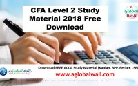 CFA Level 2 Study Material 2018 Free Download
