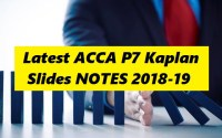 Latest ACCA P7 Kaplan Slides NOTES