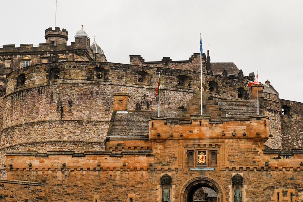 The front of Edinburgh Castle facing the Royal Mile