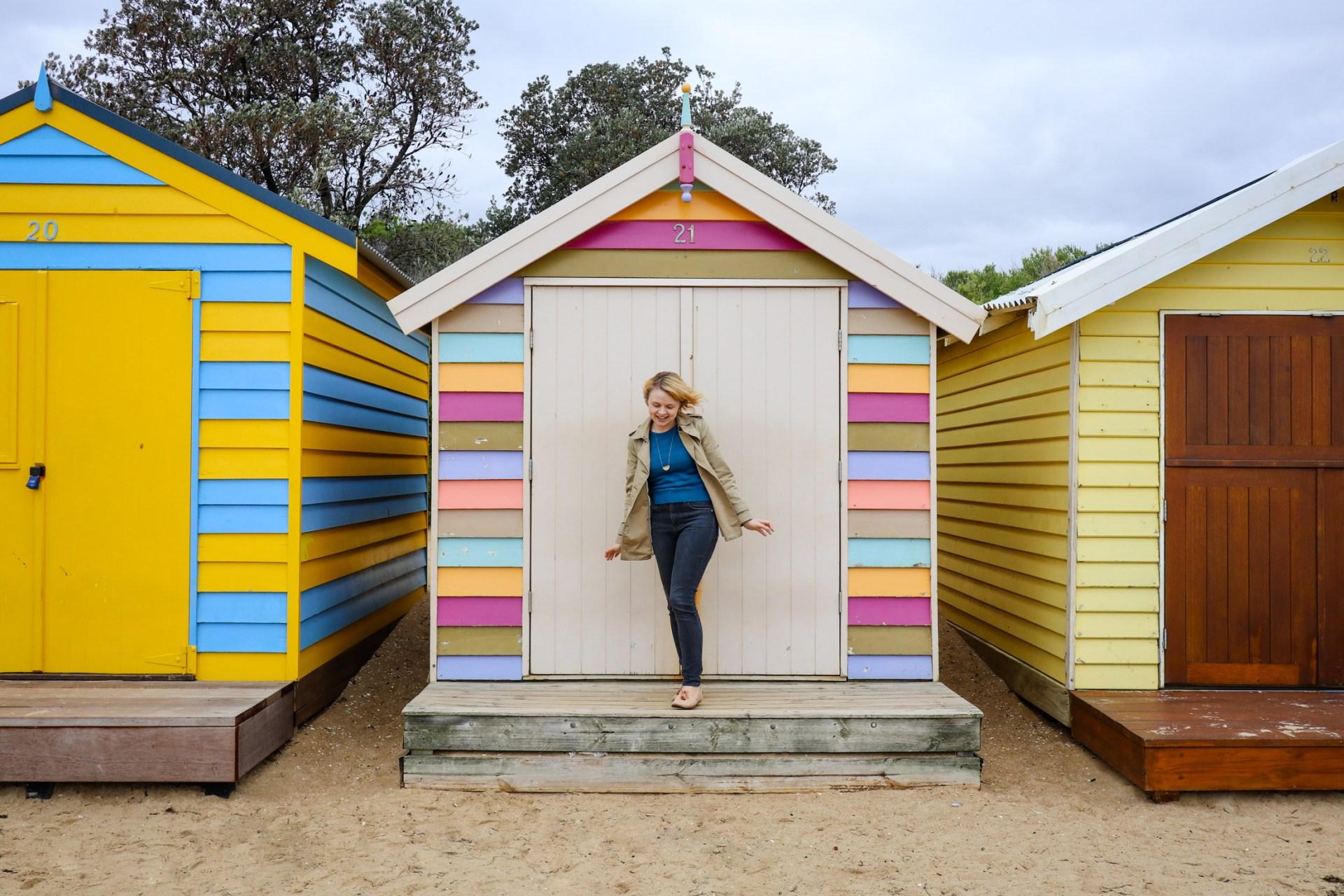 The Brighton Bathing Boxes in Melbourne, Australia