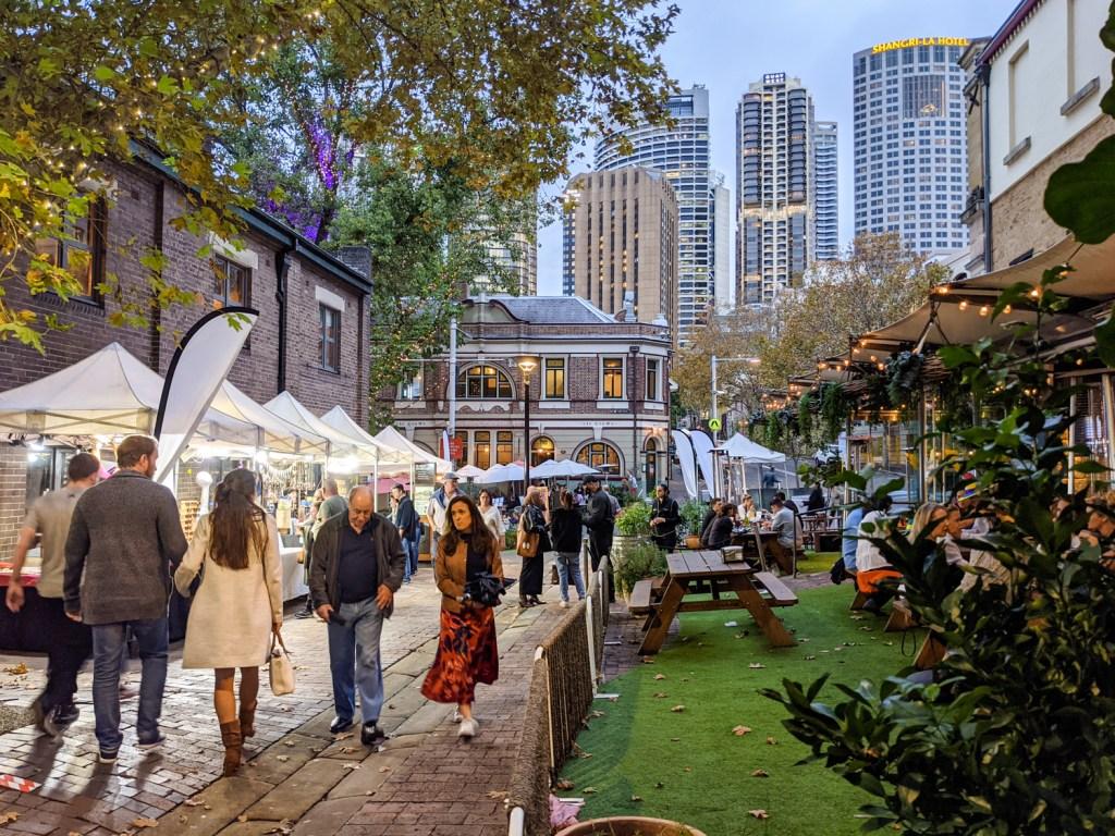 The Rocks Markets on Playfair Street, Sydney