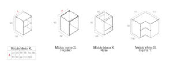 modulos hidrofugos Agloval modulo bajo XL tipos