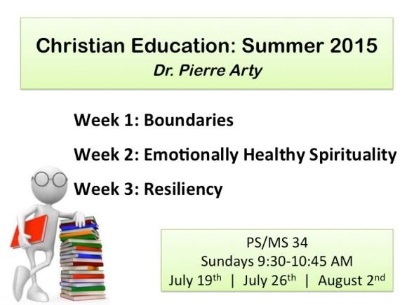 Christain Education: Summer 2015