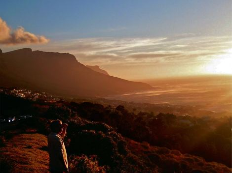 Stop to take in the sunset on Table Mountain