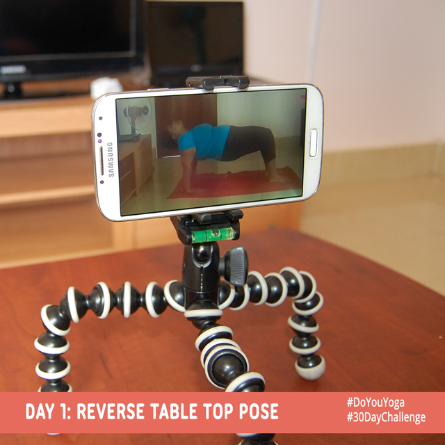 Day 1: Reverse Table Top Pose