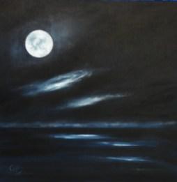 Marvelous Night 10 x 10 oil on panel