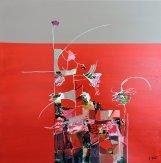 Red Flower 2 60x60