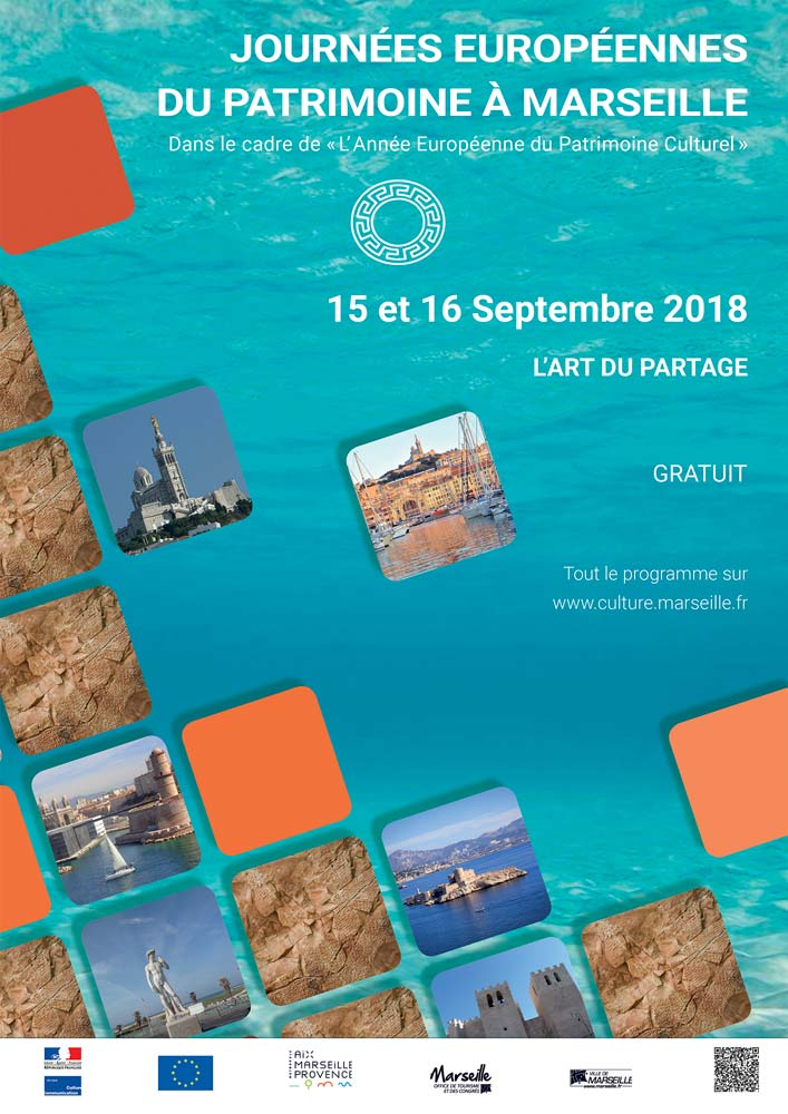 Affiche couvrant l'évènement des journées du patrimoine à Marseille