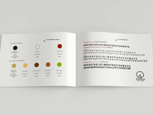 Charte Graphique SEKOIA Ecocamp Couleur et typographie utilisée