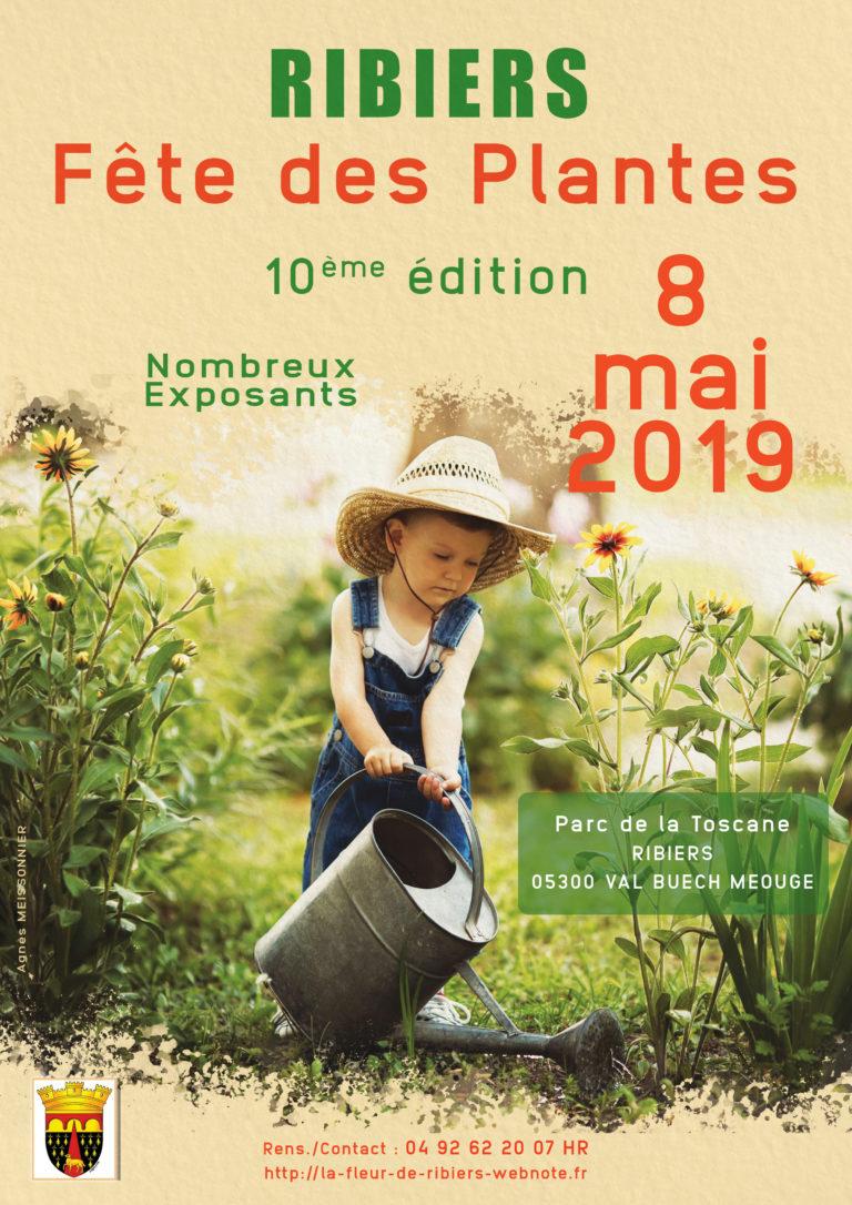 Réalisation d'une affiche pour la fête des plantes qui aura lieu au mois de main prochain à RIBIERS