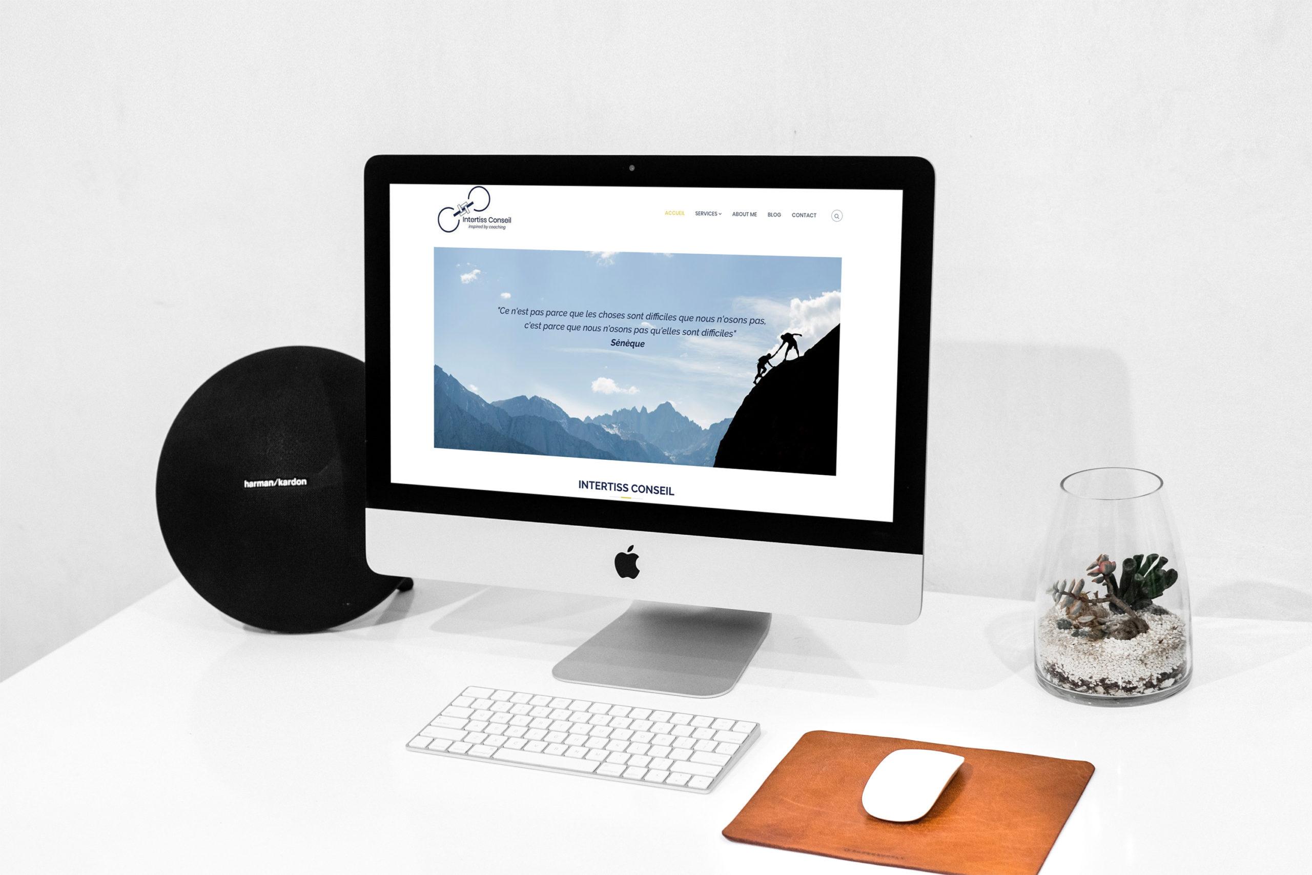 conception du site internet INTERTISS CONSEIL