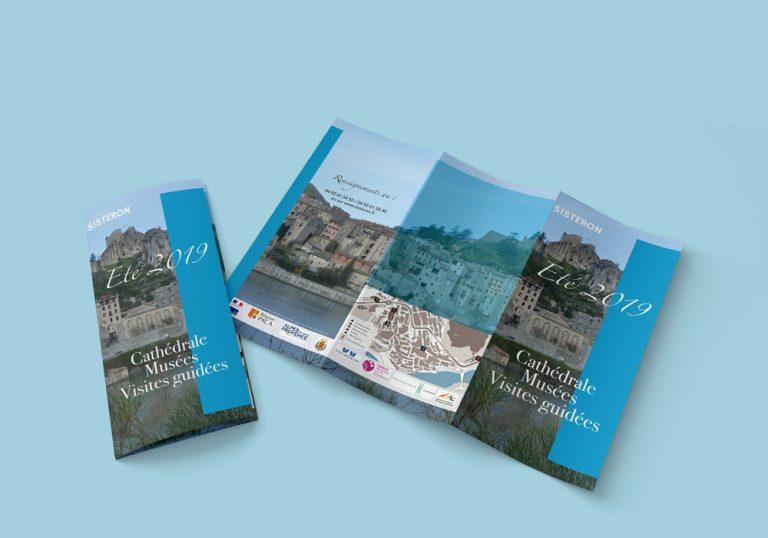 Dépliant visites culturelles réalisé pour la Mairie de Sisteron