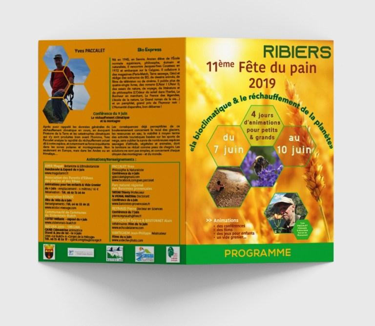 Programme de la Fête du Pain à RIBIERS - juin 2019