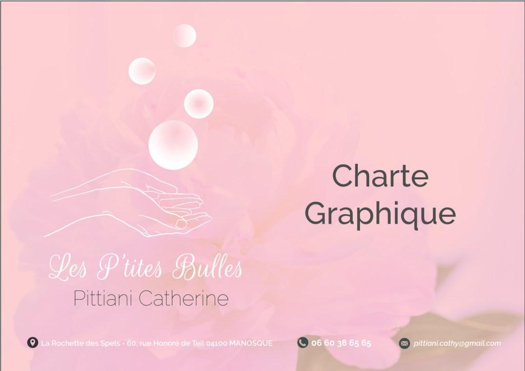 charte graphique Les P'tites Bulles, entreprise d'une Esthéticienne