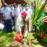 Cape Coast Archdiocese plants 15,000 trees; Archbishop Palmer-Buckle says agenda one million trees doable