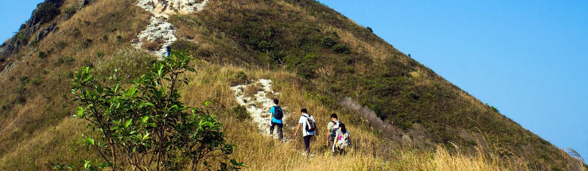 Hikers on Hong Kong Trail in Hong Kong