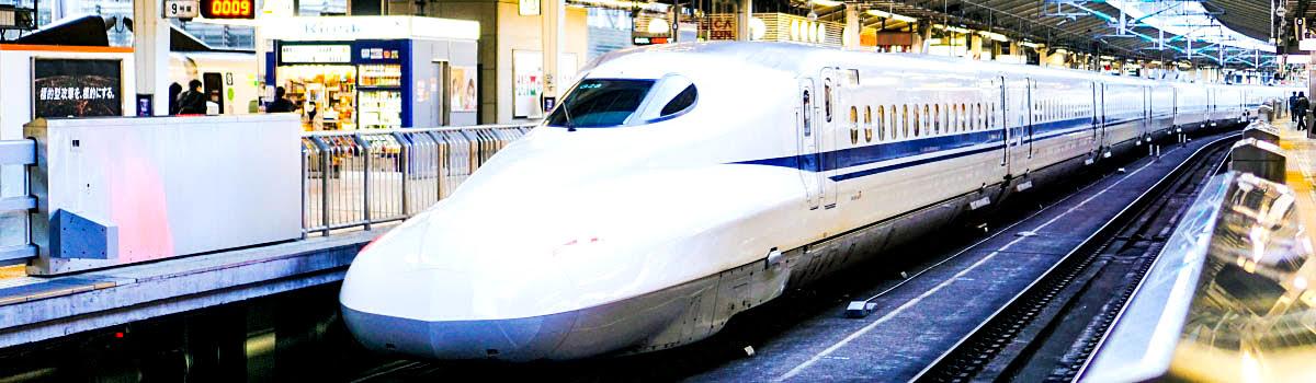 Bullet train in Osaka, Japan