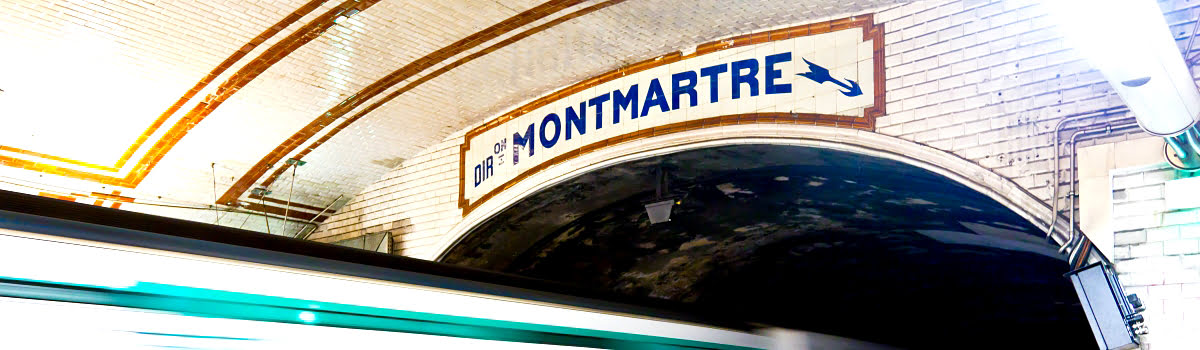 Montmartre Metro featured photo at station in Paris, France