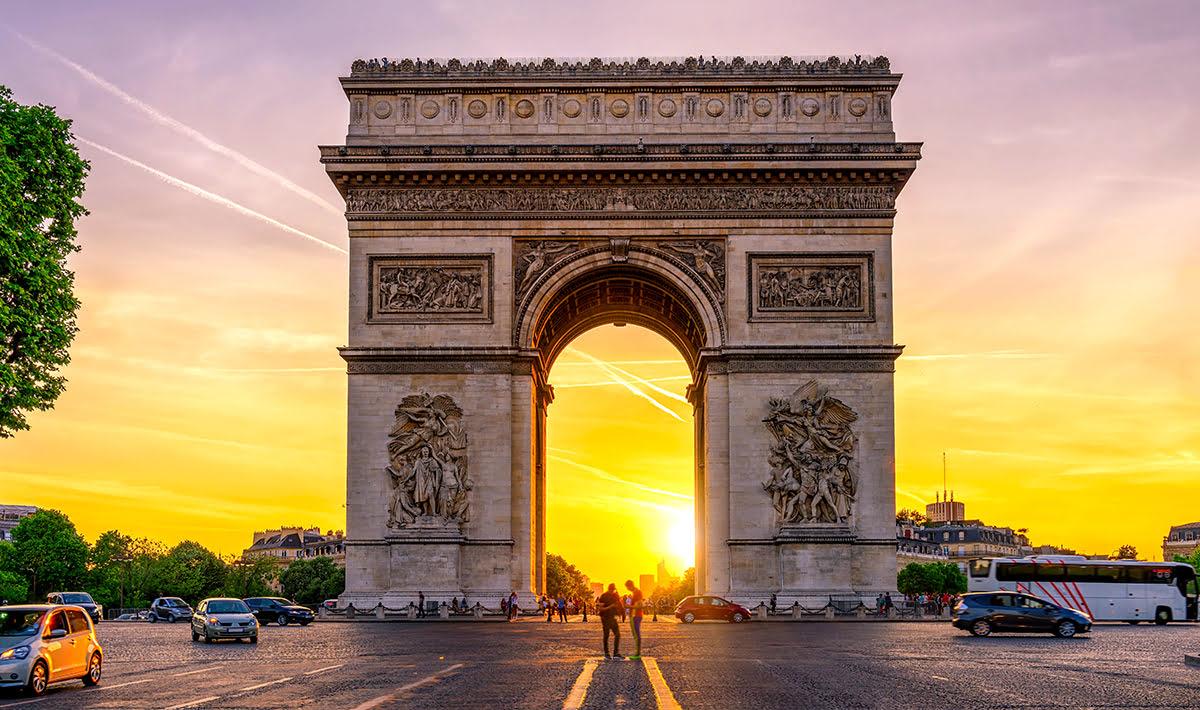 Paris attractions-travel France-Arc de Triomphe