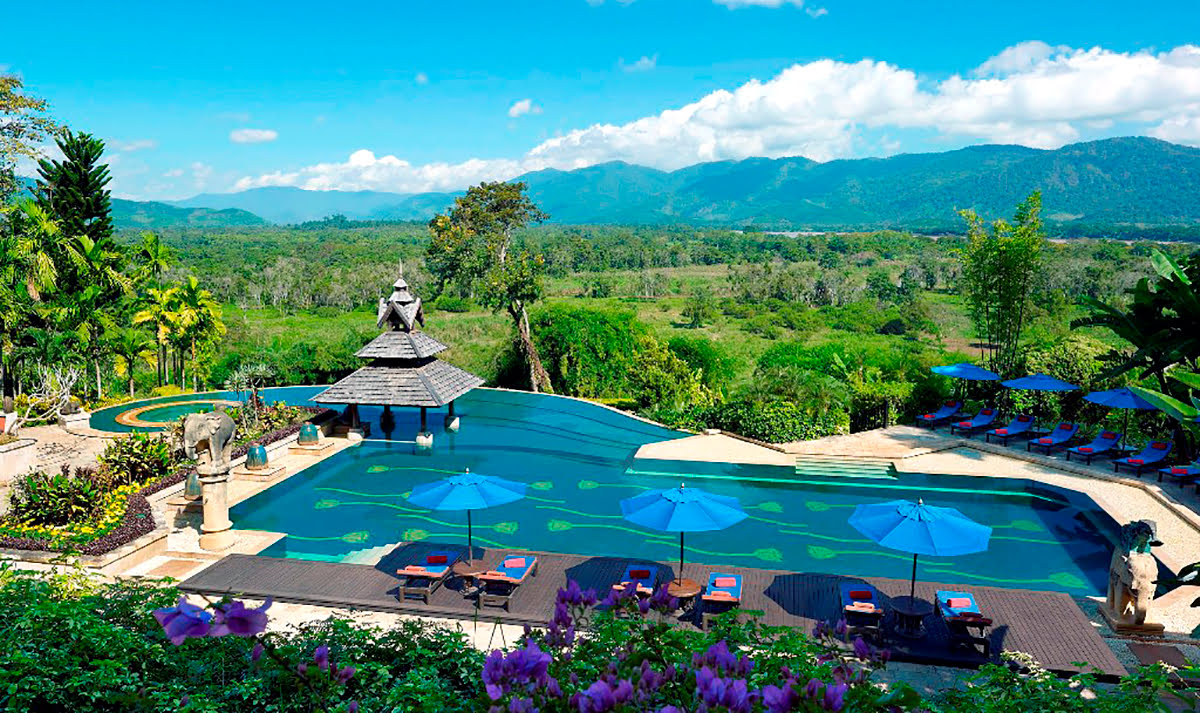 Hotels with infinity pools-rooftop swimming-Anantara Golden Triangle Elephant Camp & Resort_Chiang Rai_Thailand