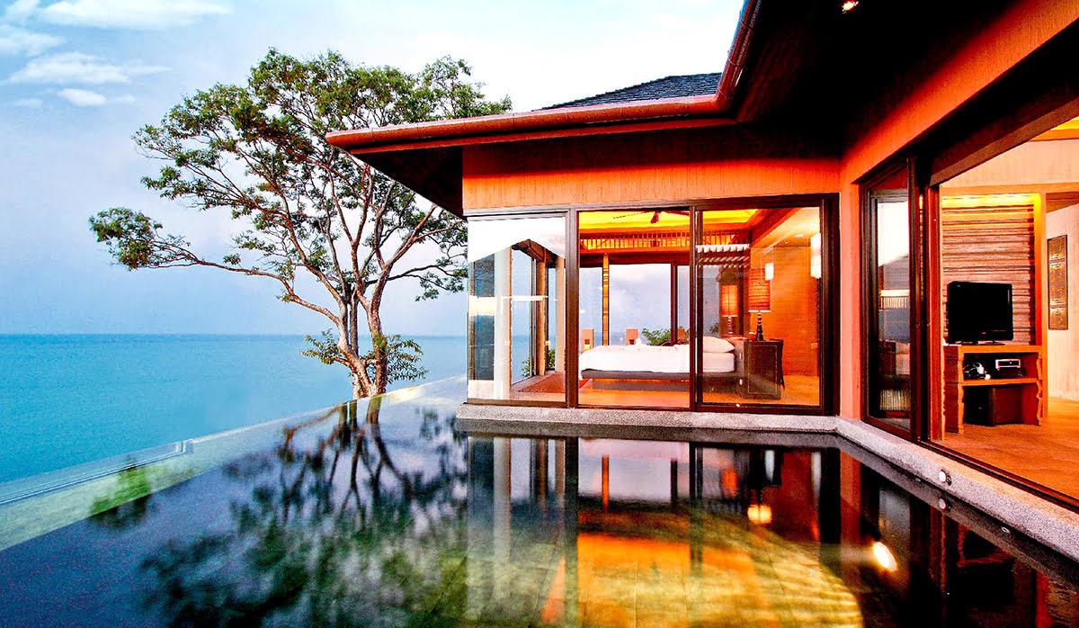 Hotels with infinity pools-rooftop swimming-Sri Panwa Phuket Luxury Pool Villa Hotel_Phuket_Thailand