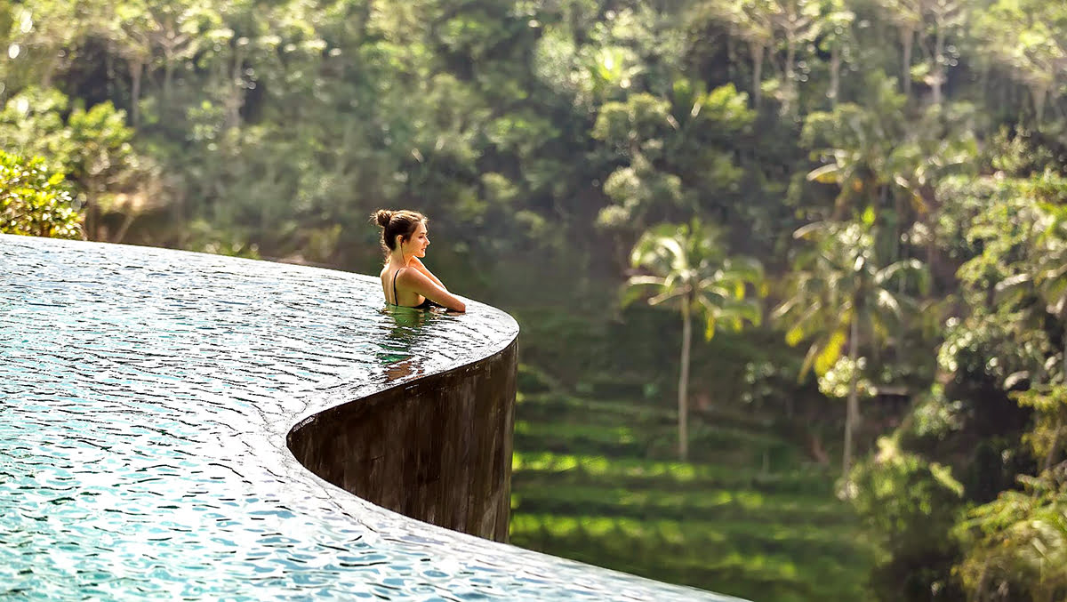 Hotels with infinity pools-rooftop swimming-The Kayon Jungle Resort by Pramana