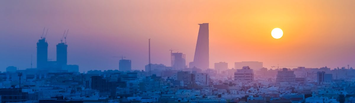 Jeddah day trips-Feature Photo (1200 x 350) - Jeddah city at sunset