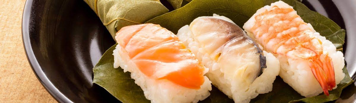 Nara food-Featured photo-A beautiful set of Kakinoha sushi