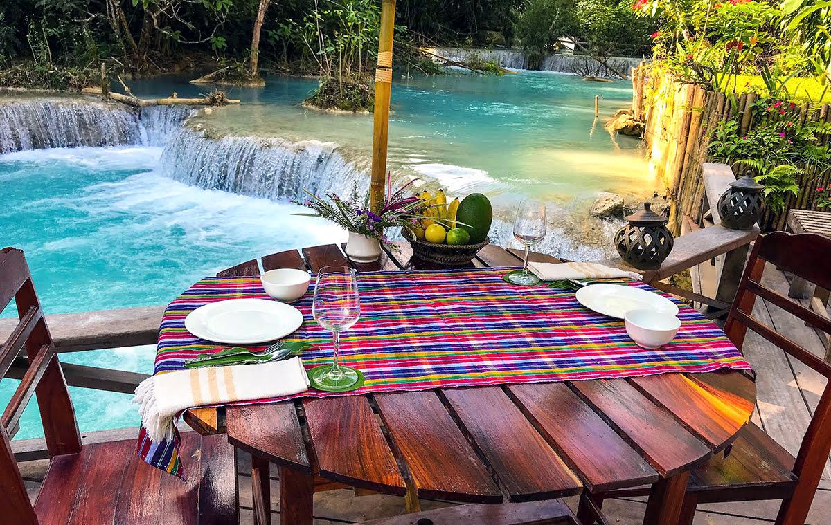 Hotels in Luang Prabang-Laos-Vanvisa at the falls