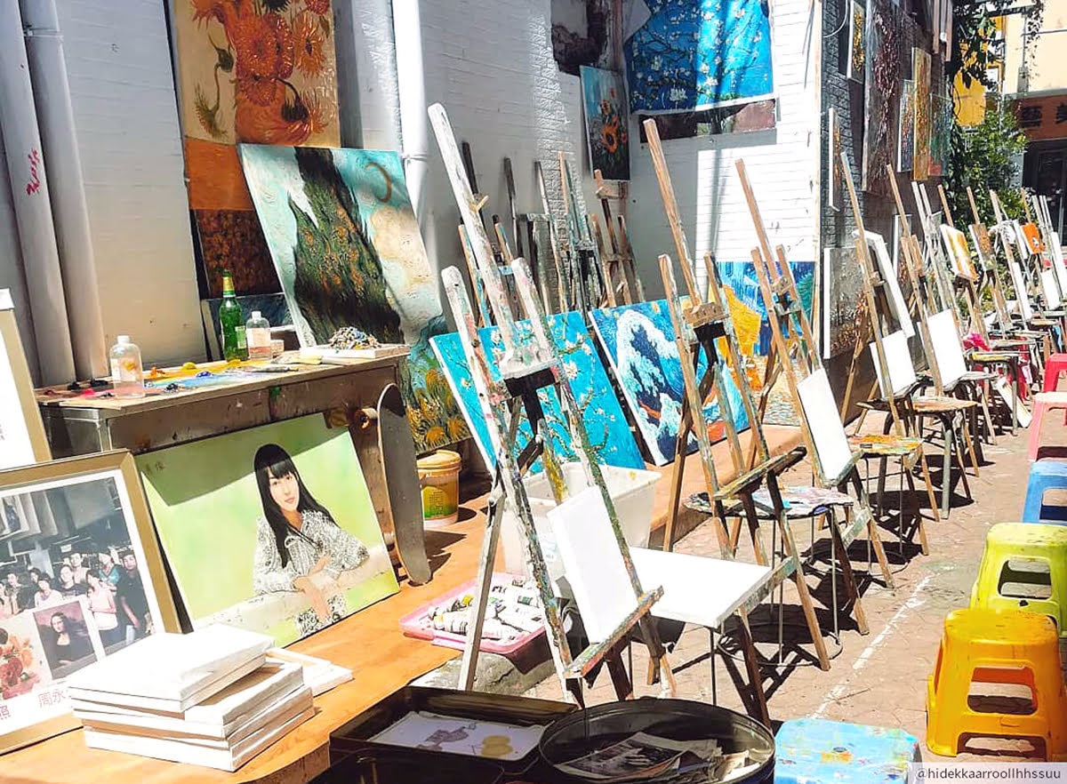 Things to do in Shenzhen-China-Dafen Oil Painting Village