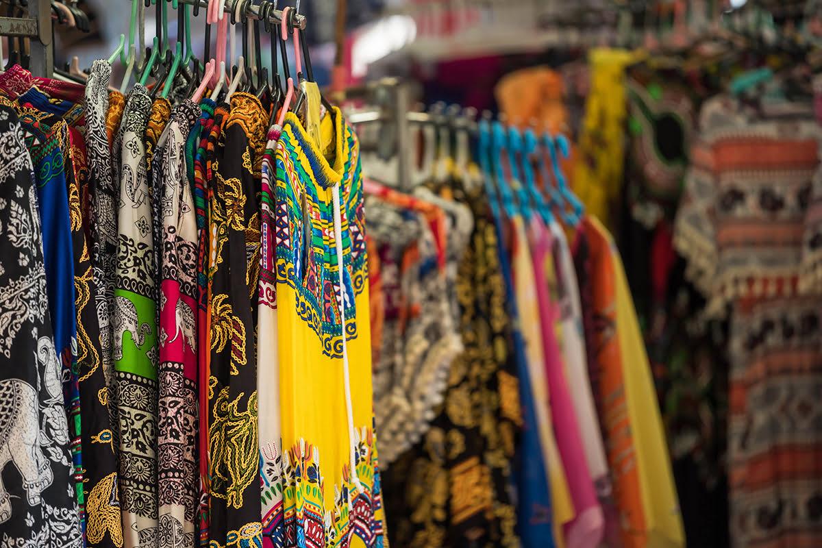 Chatuchak market-Bangkok-Cloting stall