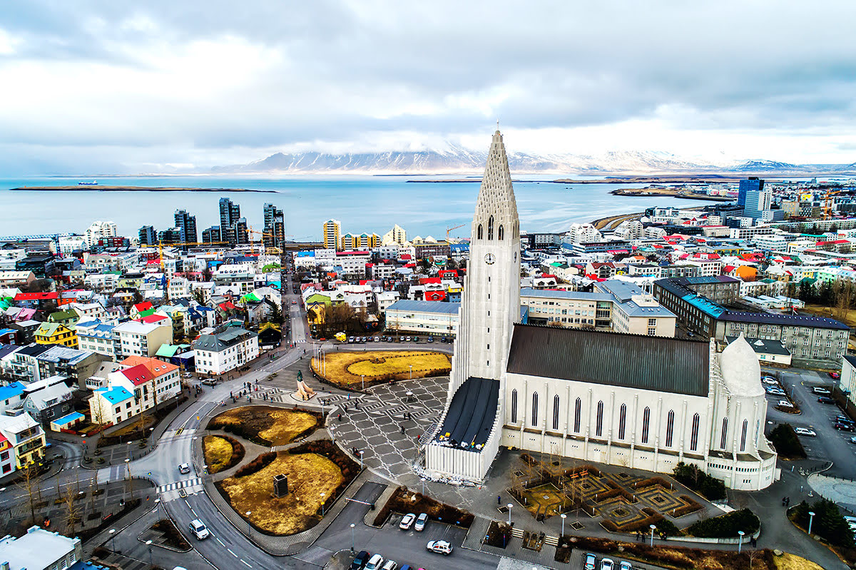 Architecture in Iceland-Reykjavic coast