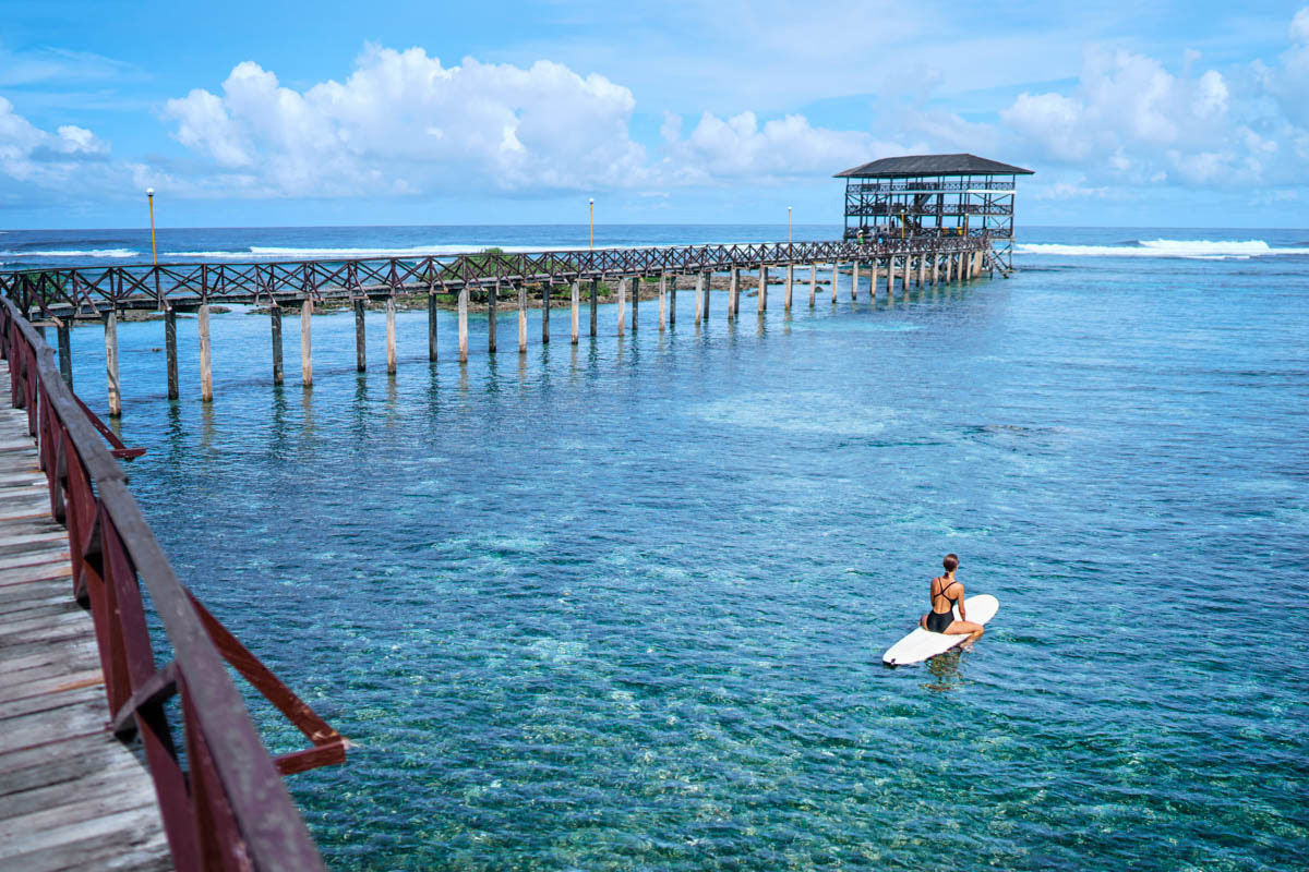 Things to do in Siargao Island-Cloud 9 surfing area