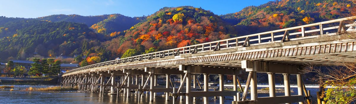 Kyoto itinerary-Featured photo (1200x350) Arashiyama bridge in autumn