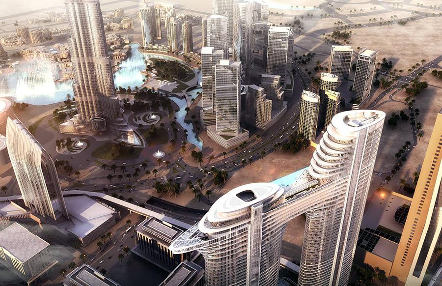 Hotels near Dubai Mall-UAE-United Arab Emirates-shopping-Address Sky View Hotel