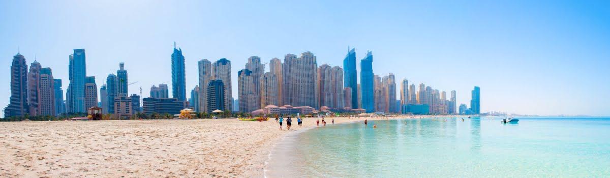 Jumeirah Beach-Featured photo (1200x350) Panoramic view of Jumeirah Beach