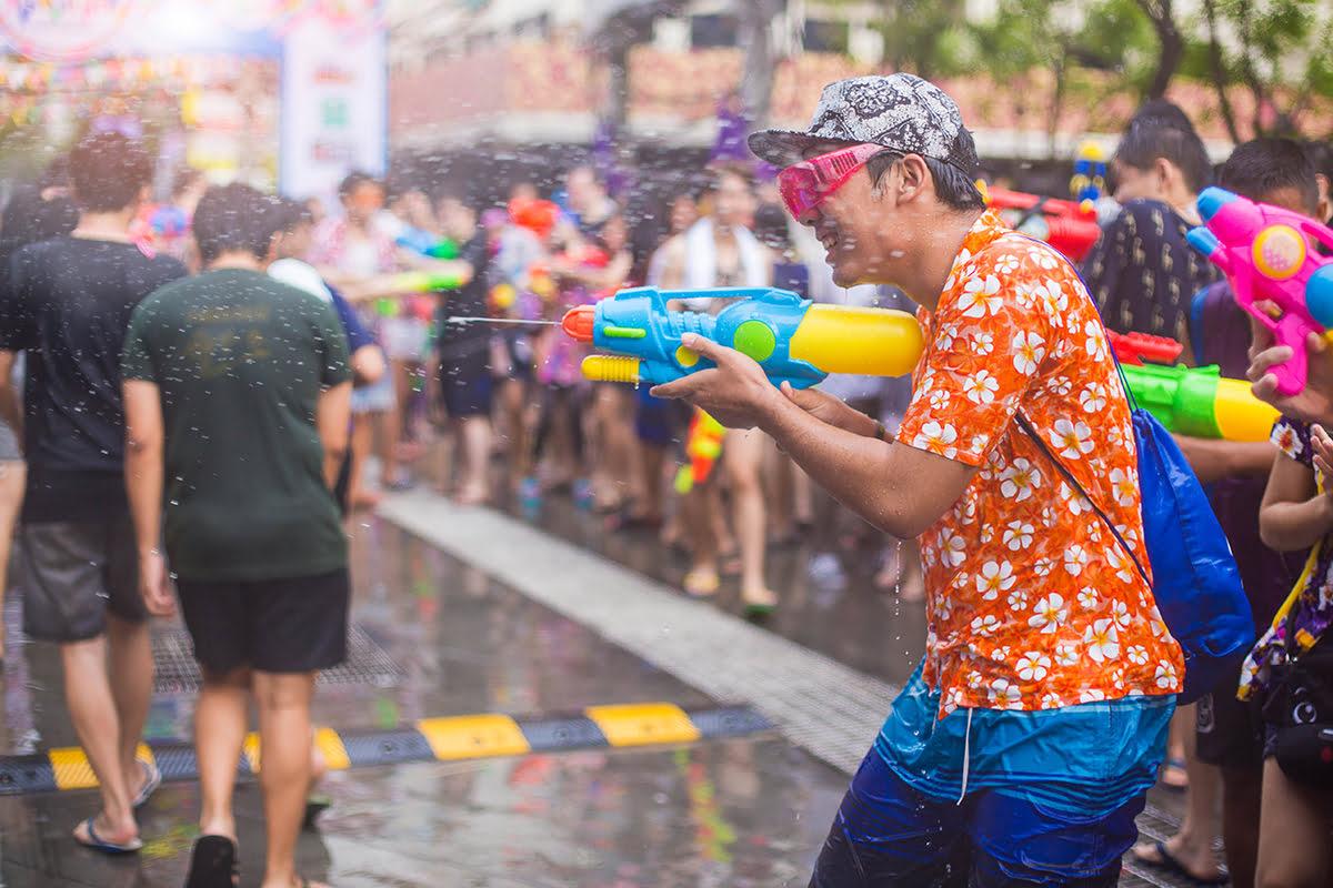Water festivals-Songkran in Chiang Mai