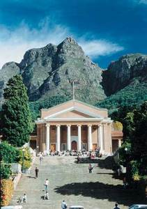 Being a Christian Student on the Campus - normal students who enjoy the Lord [picture: University of Cape Town, Jameson Hall]