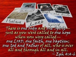 the mysterious mingling of God with man is the oneness of the Body of Christ