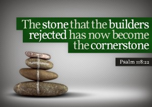 Christ is the cornerstone building us up as living stones in God's building