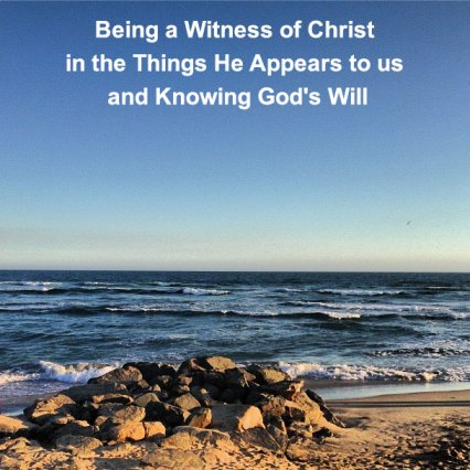 Being a Witness of Christ in the Things He Appears to us and Knowing God's Will