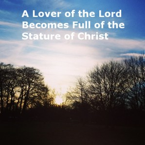 Seeing how a Lover of the Lord Becomes Full of the Stature of Christ in Song of Songs