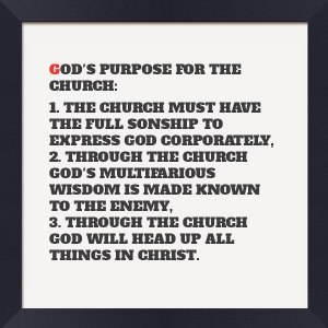 God's Purpose for the Church: having the Sonship, Dealing with Satan, and Heading up