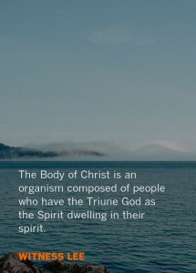 Allowing God to Mingle Himself with us to be the Church, the Mingling of God and Man